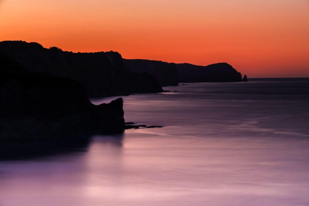 北海道,夕陽,黄金岬,展望台
