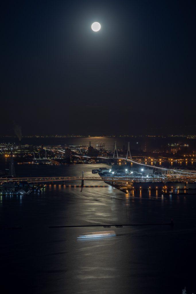 横浜ランドマークタワー,スカイガーデン,夜景,船