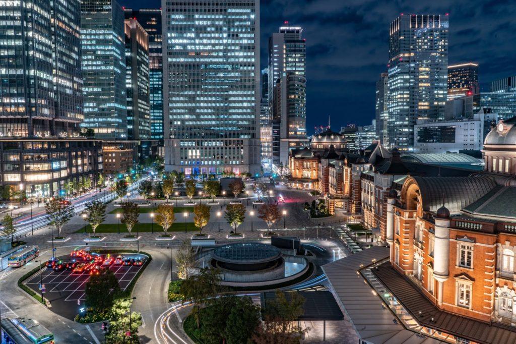 東京駅,夜景,イルミネーション,ノイズ,ISO