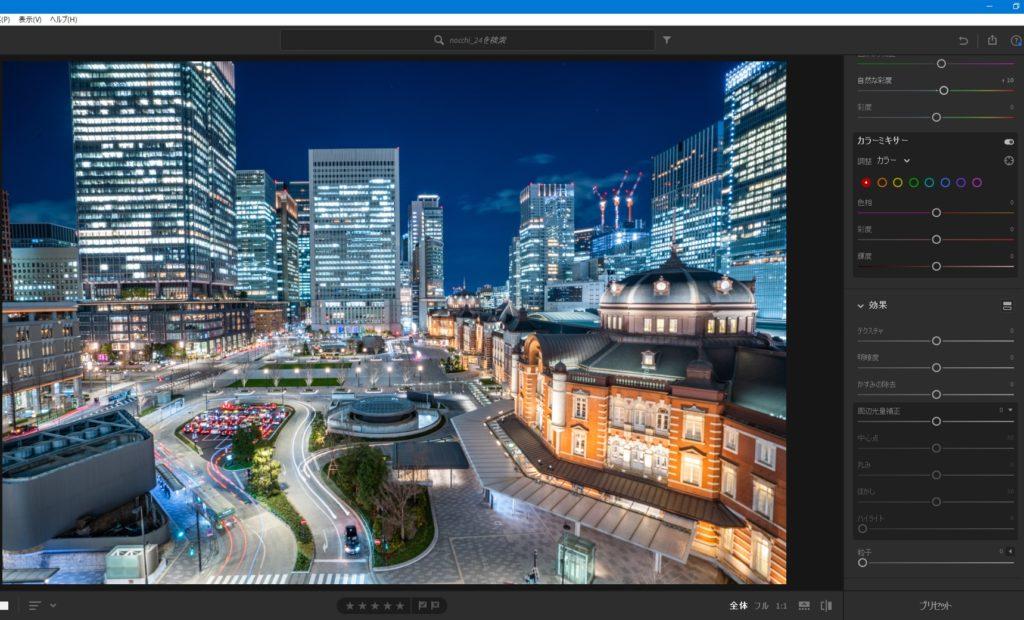 東京駅,丸の内,夜景,レタッチ