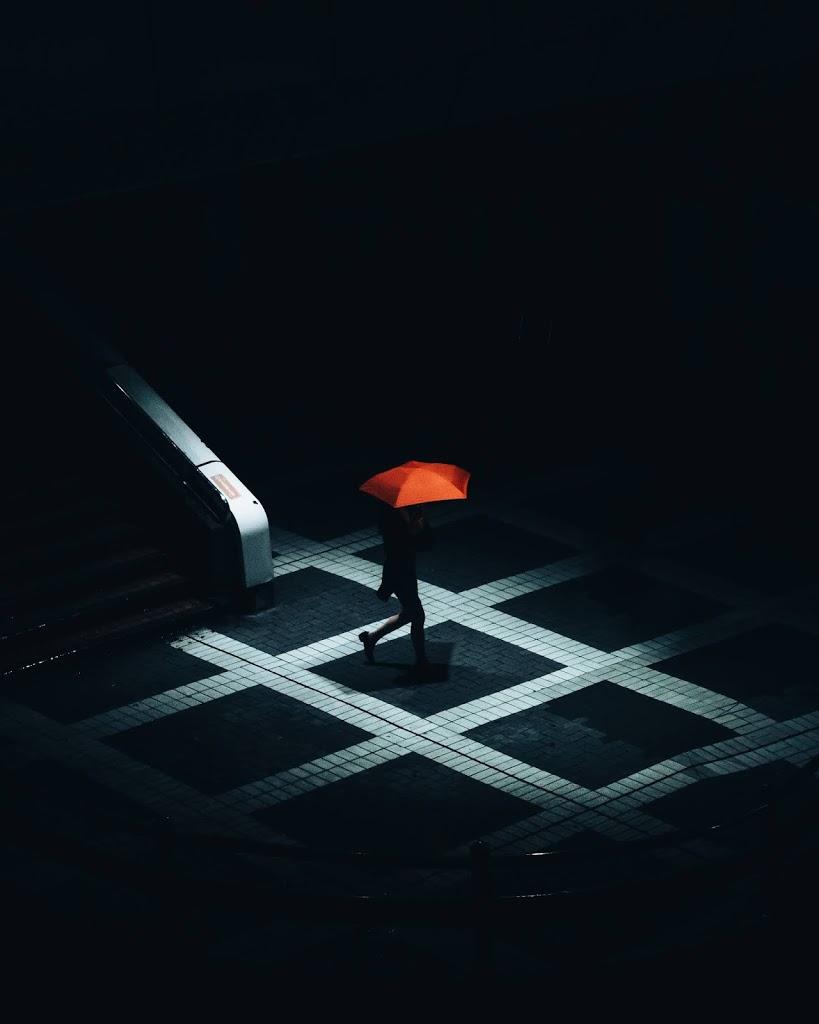 赤,傘,幾何学,模様