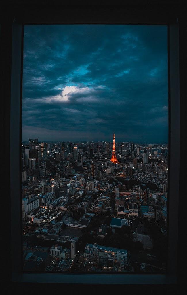 アート,東京タワー.額縁構図